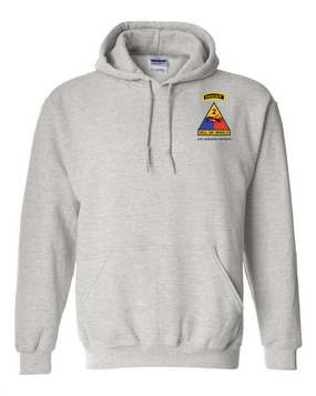 2nd Armored Division w/ Ranger Tab Embroidered Hooded Sweatshirt