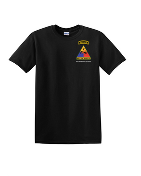 2nd Armored Division w/ Ranger Tab Cotton T-Shirt (Pocket)
