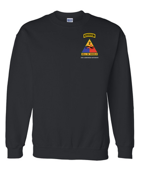 2nd Armored Division w/ Ranger Tab Embroidered Sweatshirt