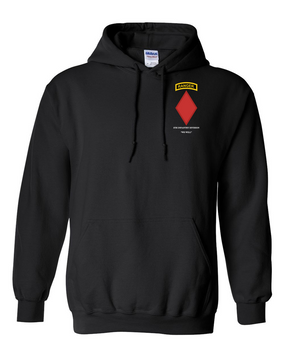 5th Infantry Division w/ Ranger Tab Embroidered Hooded Sweatshirt