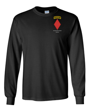 5th Infantry Division w/ Ranger Tab Long-Sleeve Cotton Shirt-(Pocket)