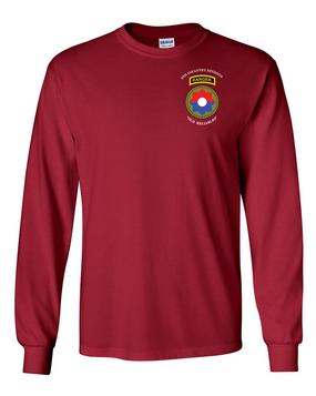 9th Infantry Division w/ Ranger Tab Long-Sleeve Cotton Shirt-(Pocket)