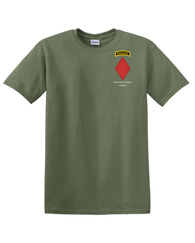 5th Infantry Division w/ Ranger Tab Cotton T-Shirt (Pocket)