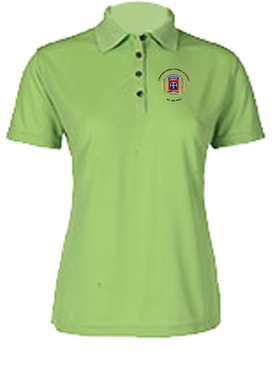 Ladies 100th Anniversary Embroidered Moisture Wick Polo Shirt