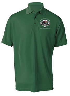 "82nd Signal Battalion ""Punisher""  Embroidered Moisture Wick Polo"