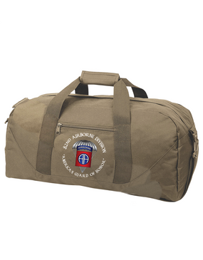82nd Airborne Division (Parachute) Embroidered Duffel Bag