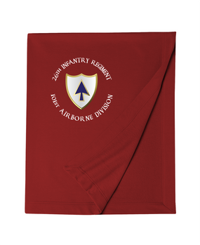 26th Infantry Regiment Embroidered Dryblend Stadium Blanket