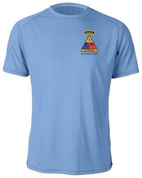 3rd Armored Division w/ Ranger Tab Moisture Wick Shirt -(Pocket)