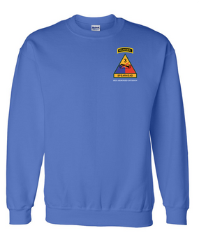 3rd Armored Division w/ Ranger Tab Embroidered Sweatshirt