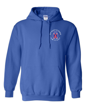10th Mountain Division Embroidered Hooded Sweatshirt