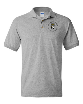 101st Airborne Division Cotton Embroidered Cotton Polo Shirt (C)