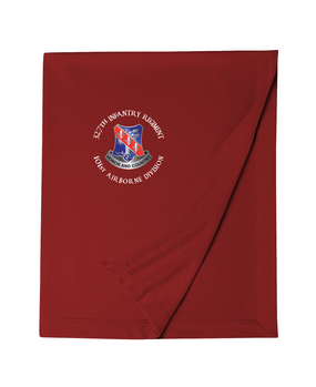 327th Infantry Regiment Embroidered Dryblend Stadium Blanket