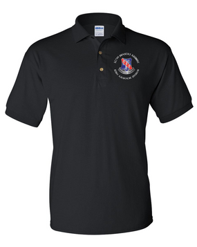 327th Infantry Regiment Embroidered Cotton Polo Shirt