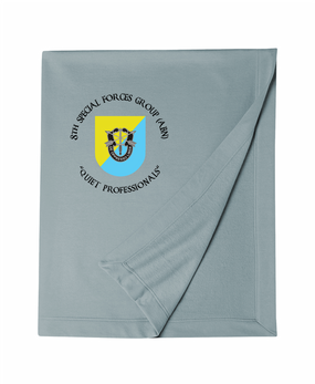 8th Special Forces Group Embroidered Dryblend Stadium Blanket