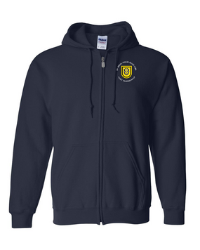 1st Special Forces Group Embroidered Hooded Sweatshirt with Zipper (C)