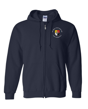3rd Special Forces Group Embroidered Hooded Sweatshirt with Zipper (C)