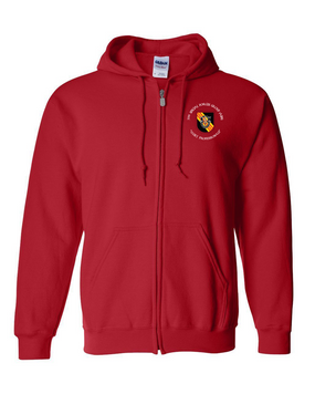 5th Special Forces Group V2 Embroidered Hooded Sweatshirt with Zipper (C)