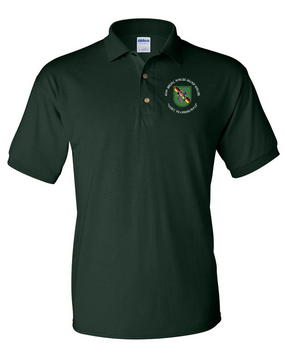 10th Special Forces Group (Europe) Embroidered Cotton Polo Shirt (C)