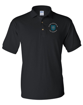 19th Special Forces Group Embroidered Cotton Polo Shirt (C)