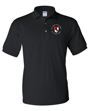 11th ACR Regiment Embroidered Cotton Polo Shirt (C)