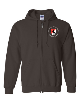 11th ACR Embroidered Hooded Sweatshirt with Zipper (C)
