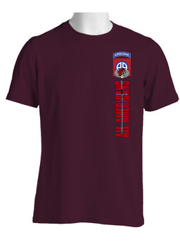 L-82nd Airborne Division Sword of St Michael Cotton Shirt (OS)