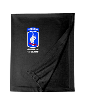 "173rd ""Sky Soldiers"" Embroidered Dryblend Stadium Blanket"