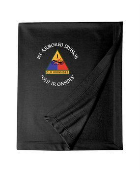 1st Armored Division Embroidered Dryblend Stadium Blanket (C)
