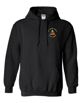 1st Armored Division Embroidered Hooded Sweatshirt (C)