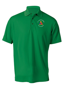 1st Armored Division Embroidered Moisture Wick Polo