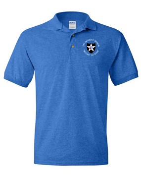 2nd Infantry Division Embroidered Cotton Polo Shirt (C)