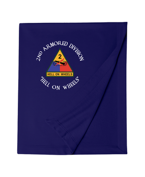 2nd Armored Division Embroidered Dryblend Stadium Blanket (C)
