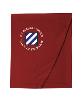 3rd Infantry Division Embroidered Dryblend Stadium Blanket (C)