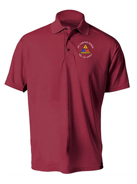 2nd Armored Division Embroidered Moisture Wick Polo (C)