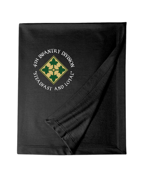 4th Infantry Division Embroidered Dryblend Stadium Blanket (C)