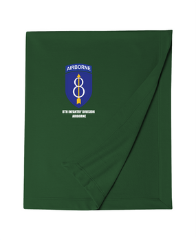 8th Infantry Division Airborne  Embroidered Dryblend Stadium Blanket