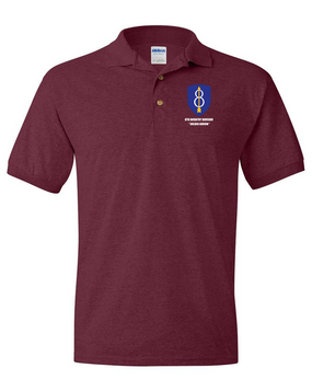 8th Infantry Division Embroidered Cotton Polo Shirt