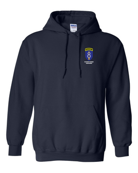 8th Infantry Division w/ Ranger Tab Embroidered Hooded Sweatshirt