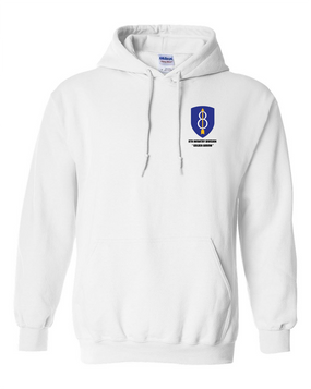 8th Infantry Division Embroidered Hooded Sweatshirt