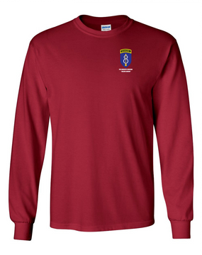 8th Infantry Division w/ Ranger Tab Long-Sleeve Cotton Shirt  -Pocket