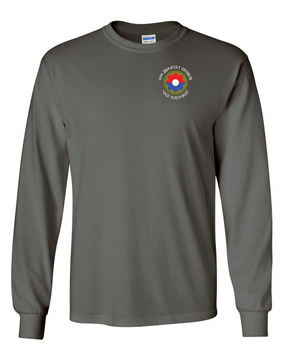 9th Infantry Division w/ Ranger Tab Long-Sleeve Cotton Shirt  -Pocket (C)