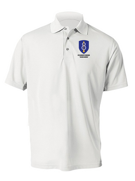 8th Infantry Division Embroidered Moisture Wick Polo