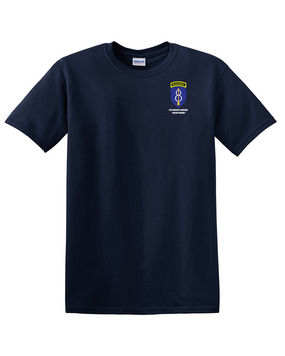 8th Infantry Division w/ Ranger Tab Cotton T-Shirt -Pocket