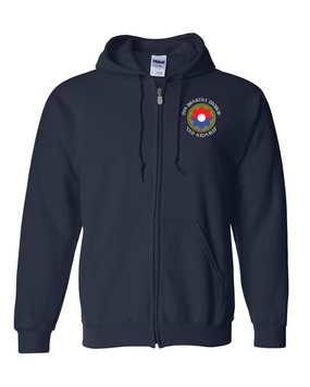 9th Infantry Division Embroidered Hooded Sweatshirt with Zipper  (C)
