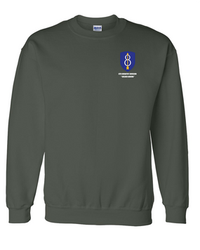8th Infantry Division  Embroidered Sweatshirt