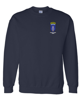 8th Infantry Division Airborne w/ Ranger Tab Embroidered Sweatshirt