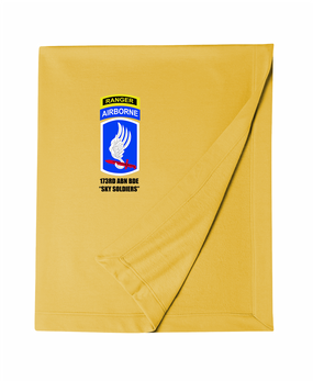 173rd Airborne Brigade w/ Ranger Tab Embroidered Dryblend Stadium Blanket