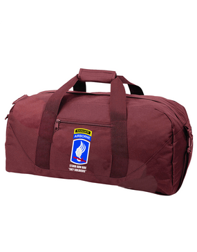 173rd Airborne Brigade w/ Ranger Tab Embroidered Duffel Bag