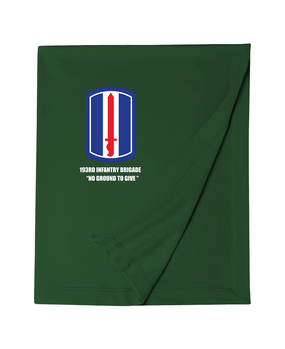 193rd Infantry Brigade Embroidered Dryblend Stadium Blanket