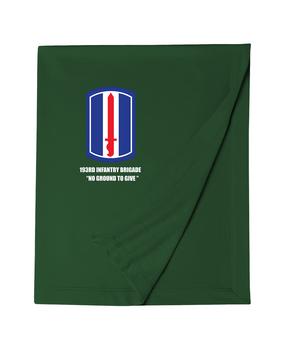 193rd Infantry Brigade Embroidered Dryblend Stadium Blanket